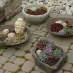 Бетонные мини- цветники, поделки для дачи,поделки своими руками, клумбы,ландшафтный дизайн
