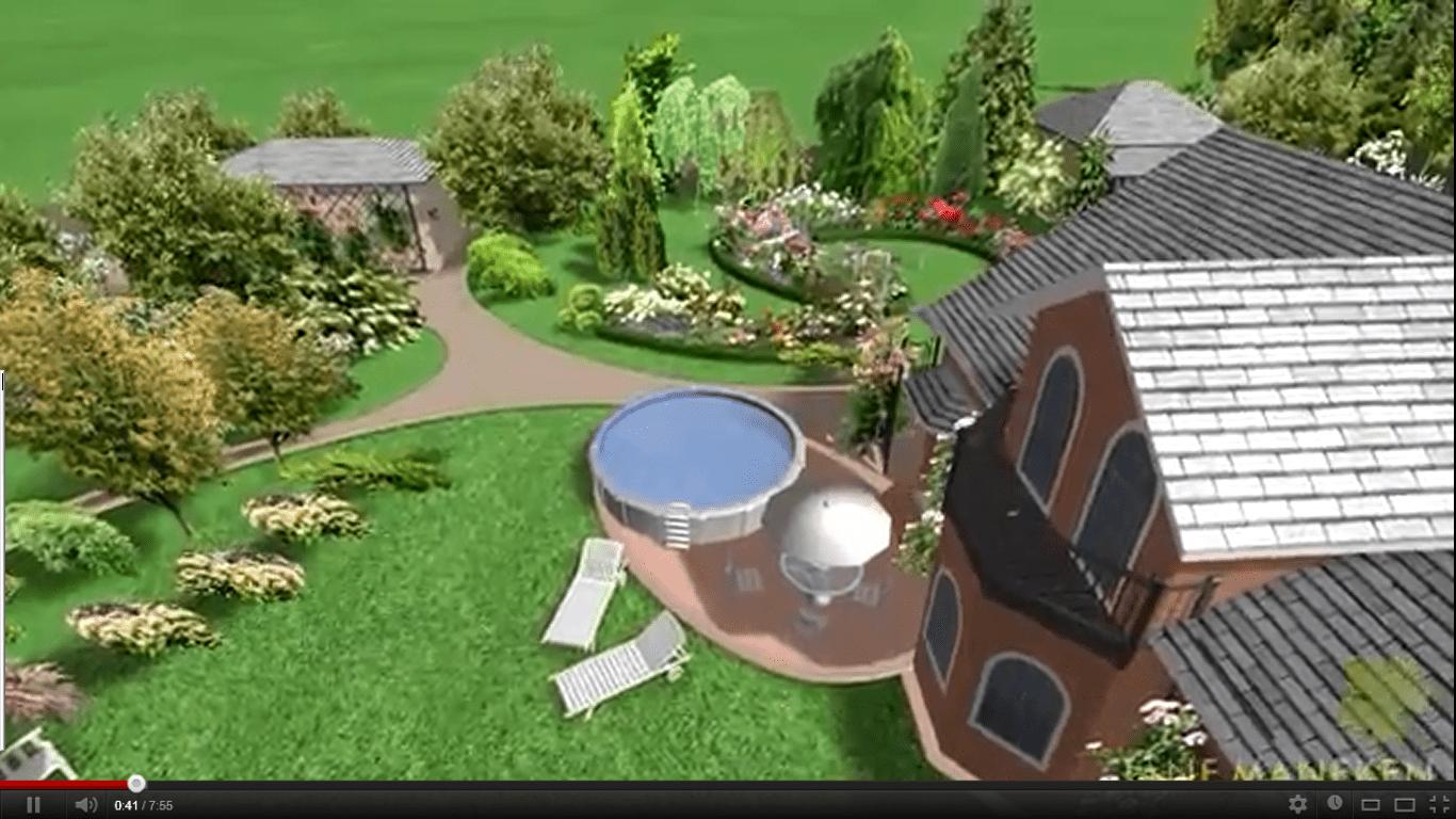 Ландшафтный дизайн 3d нижний сад