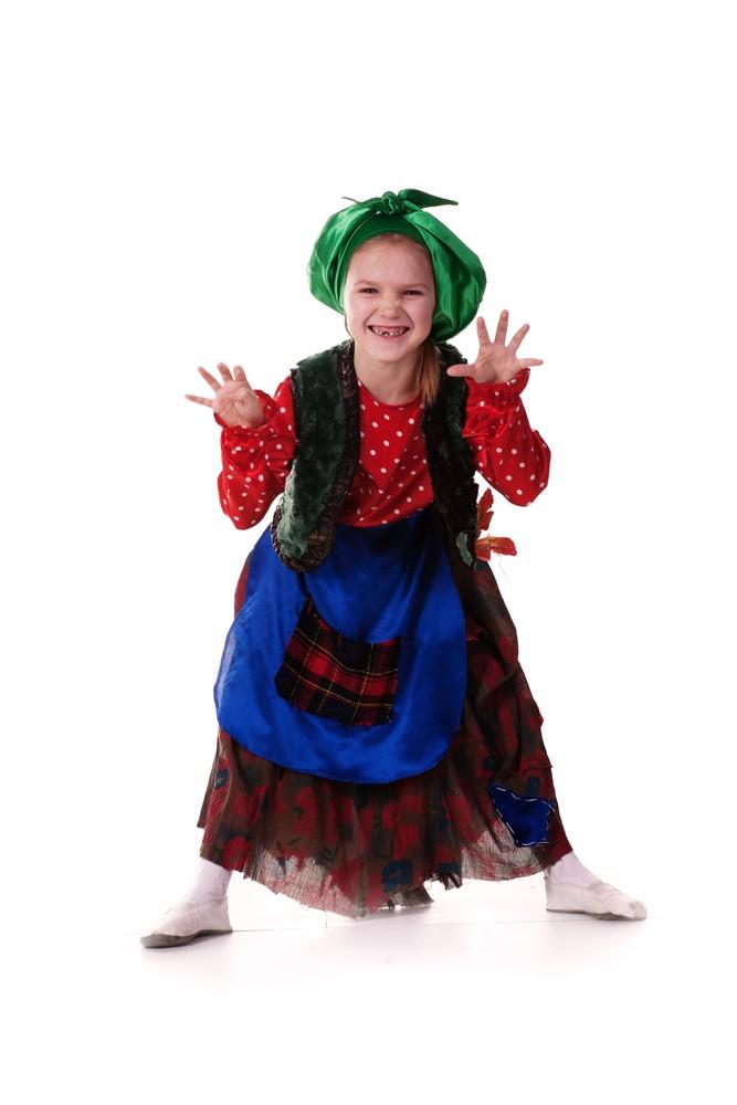 Детский костюм бабы яги своими руками фото