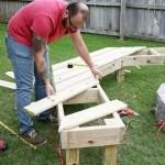 как сделать скамейку, скамейка для дачи + своими руками