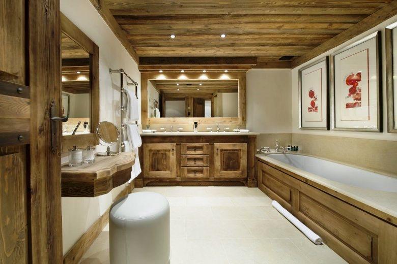 Отделка ванной комнаты из дерева